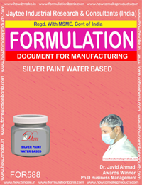 Silver paint water based(Formula No 588)
