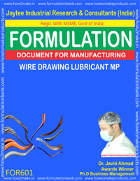 Formula For Wire Drawing Lubricant MP (Formula 601)