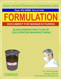 Black Disinfectant Fluid by Cold Proces Manufacturing (for630)