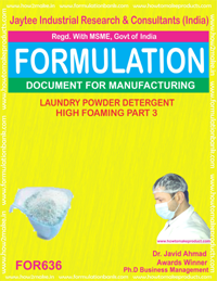 Laundry Powder Detergent High Foaming Type 3 (Formu