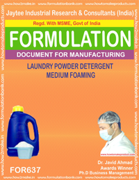 Laundry Powder Detergent Medium Foaming Type 3 (Formula 637)