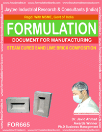 STEAM CURED SAND LIME BRICK COMPOSITION (FORMULA 665