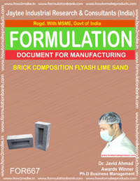 BRICK COMPOSITION FLYASH LIME SAND (FORMULA 667)