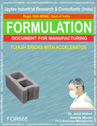 FLYASH BRICKS WITH ACCELERATOR (FORMULA 668)
