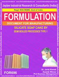 SILICATE SOAP CAKE by SEMI BOILED PROCESS (FORMULA 6