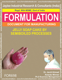 JELLY SOAP CAKE BY SEMI BOILED PROCESS (FORMULA 698)