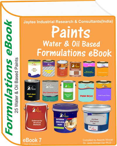Water and Oil Based Paints Manufacturing Formulations eBook 7