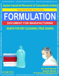 SOAPS FOR DRY CLEANING (TRUE SOAPS) (FORMULA 701)
