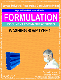 FORMULA FOR WASHING SOAPTYPE 1 (FORMULA 704)