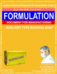 FORMULA FOR SUNLIGHT TYPE WASHING SOAP (FORMULA 705)