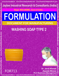 FORMULA FOR WASHING SOAP TYPE 2 (FORMULA 713)