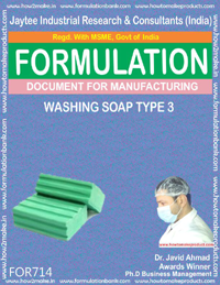 FORMULA FOR WASHING SOAP TYPE 3 (FORMULA 714)