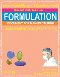 FORMULA FOR TRANSPARENT SOAP (PEARS TYPE -1) (FORMULA 718)