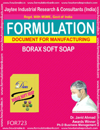 FORMULA FOR BORAX SOFT SOAP (FORMULA 723)
