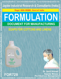 FORMULA FOR SOAP FOR COTTONS AND LINIENS (FORMULA 728)