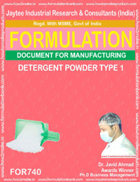 FORMULA FOR DETERGENT SOAP TYPE 1 (FORMULA 740)