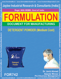 FORMULA FOR DETERGENT POWDER MEDIUM COST (FORMULA 742)
