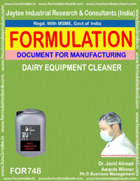 FORMULA FOR DAIRY EQUIPMENT CLEANER (FORMULA 748)