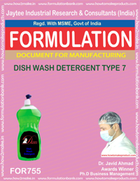 FORMULA FOR DISH WASH DETERGENT TYPE 7 (FORMULA 755)