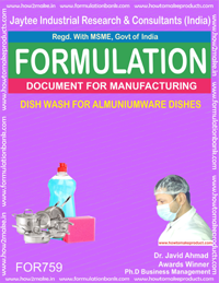 DISH WASH FOR ALMUNIUMWARE DISHES (FORMULA 759)