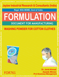WASHING POWDER FOR COTTON CLOTHES (FORMULA 761)