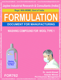 WASHING COMPOUNDS FOR WOOL TYPE 1 (FORMULA 762)