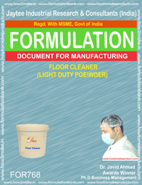 FLOOR CLEANER (light duty powder) (FORMULA 768)