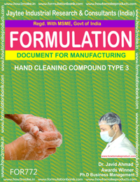 HAND CLEANING COMPOUND TYPE 3 (FORMULA 772)