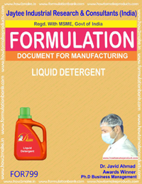 LIQUID DETERGENT HOUSEHOLD WASHING TYPE-F (FORMULA 799)