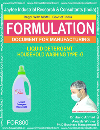 LIQUID DETERGENT HOUSEHOLD WASHING TYPE-G (FORMULA 800)