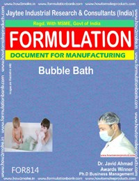 Bubble Bath Formulation (Fo r814)