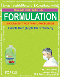 Bubble Bath apple and strawberry Formulation (For815)