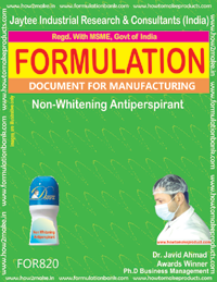 Non Whitening Antiperspirant Formulation (for820)