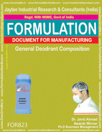 General Deodorant Composition Formulation (for823)