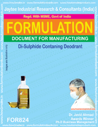 Disulphide Containing Deodorant Formulation (for824)
