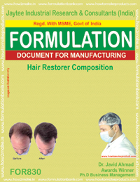 Hair Restoration Composition Formulation (for830)