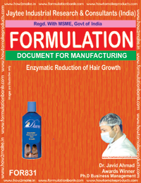 Formula for Enzymatic Reduction of Hair Growth (Formula 831)