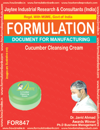 Cucumber Cleansing Cream Formulation (for847)