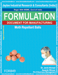Moth Repellent Balls Making Formulation (for849)