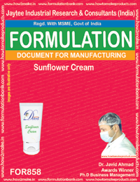 Sunflower Cream Formulation (for858)