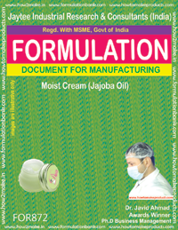 Moist Cream (Jajoba oil) Formulation (for872)