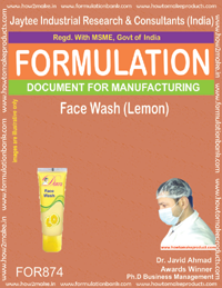 Face Wash (Lemon) Formulation (for874)