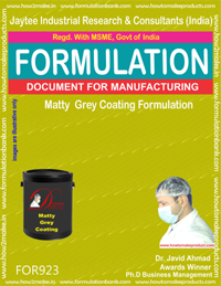 Matty Grey Coating Formulation (for923)