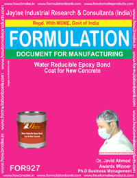 Water Reducible Epoxy Bond Coat for New Concrete (for927)