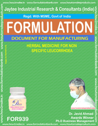 Herbal Medicin for non-Specific Leucorrhoea Formulation (for939