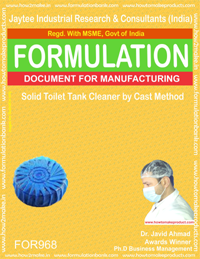 Solid Toilet Tank Cleaner by Cast Method (For968)