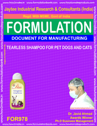TEARLESS SHAMPOO FOR PET DOGS AND CATS (For978)