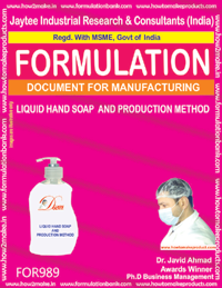 Liquid Hand Soap Formula & Production Method (For989)